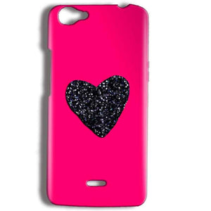 Micromax Bolt Q338 Mobile Covers Cases Pink Glitter Heart - Lowest Price - Paybydaddy.com