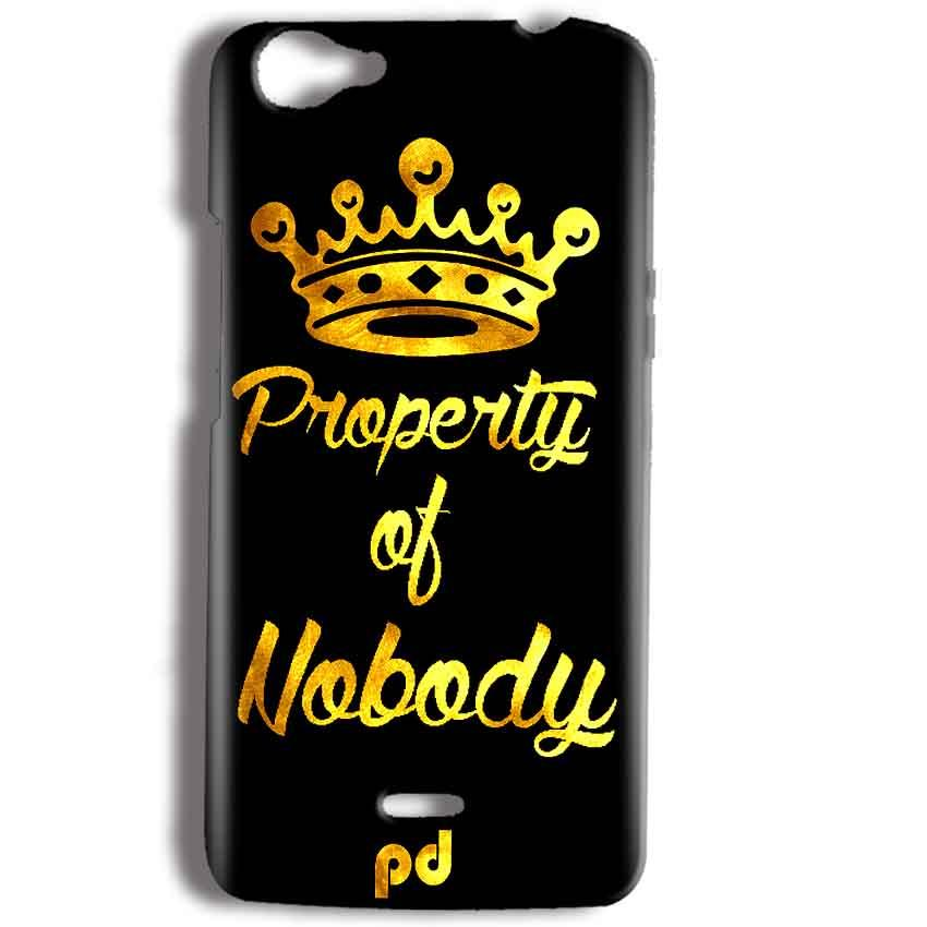Micromax Bolt Q338 Mobile Covers Cases Property of nobody with Crown - Lowest Price - Paybydaddy.com