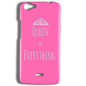 Micromax Bolt Q338 Mobile Covers Cases Queen Of Everything Pink White - Lowest Price - Paybydaddy.com
