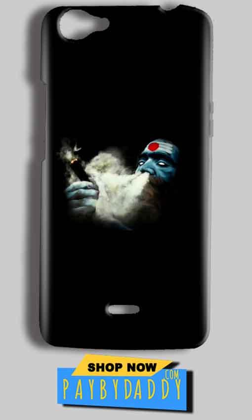 Micromax Bolt Q338 Mobile Covers Cases Shiva Aghori Smoking - Lowest Price - Paybydaddy.com