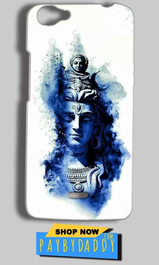 Micromax Bolt Q338 Mobile Covers Cases Shiva Blue White - Lowest Price - Paybydaddy.com