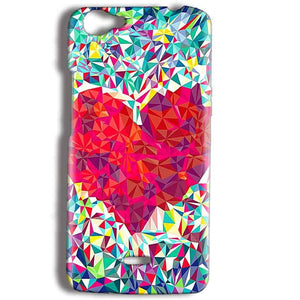 Micromax Bolt Q338 Mobile Covers Cases heart Prisma design - Lowest Price - Paybydaddy.com
