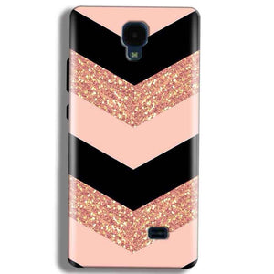 Micromax Bolt Q383 Mobile Covers Cases Black down arrow Pattern - Lowest Price - Paybydaddy.com