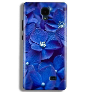 Micromax Bolt Q383 Mobile Covers Cases Blue flower - Lowest Price - Paybydaddy.com