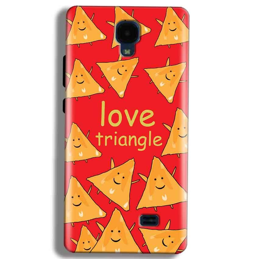 Micromax Bolt Q383 Mobile Covers Cases Love Triangle - Lowest Price - Paybydaddy.com