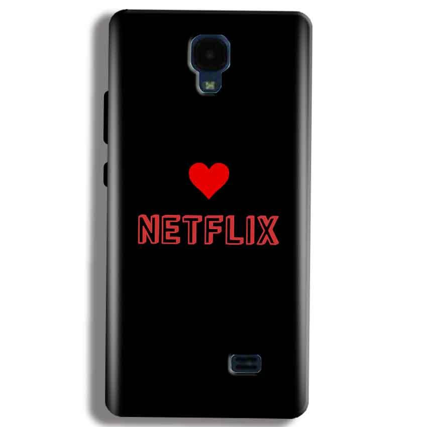 Micromax Bolt Q383 Mobile Covers Cases NETFLIX WITH HEART - Lowest Price - Paybydaddy.com