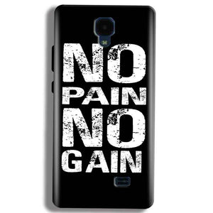 Micromax Bolt Q383 Mobile Covers Cases No Pain No Gain Black And White - Lowest Price - Paybydaddy.com