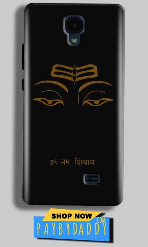 Micromax Bolt Q383 Mobile Covers Cases Om Namaha Gold Black - Lowest Price - Paybydaddy.com