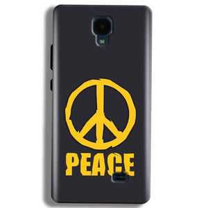 Micromax Bolt Q383 Mobile Covers Cases Peace Blue Yellow - Lowest Price - Paybydaddy.com