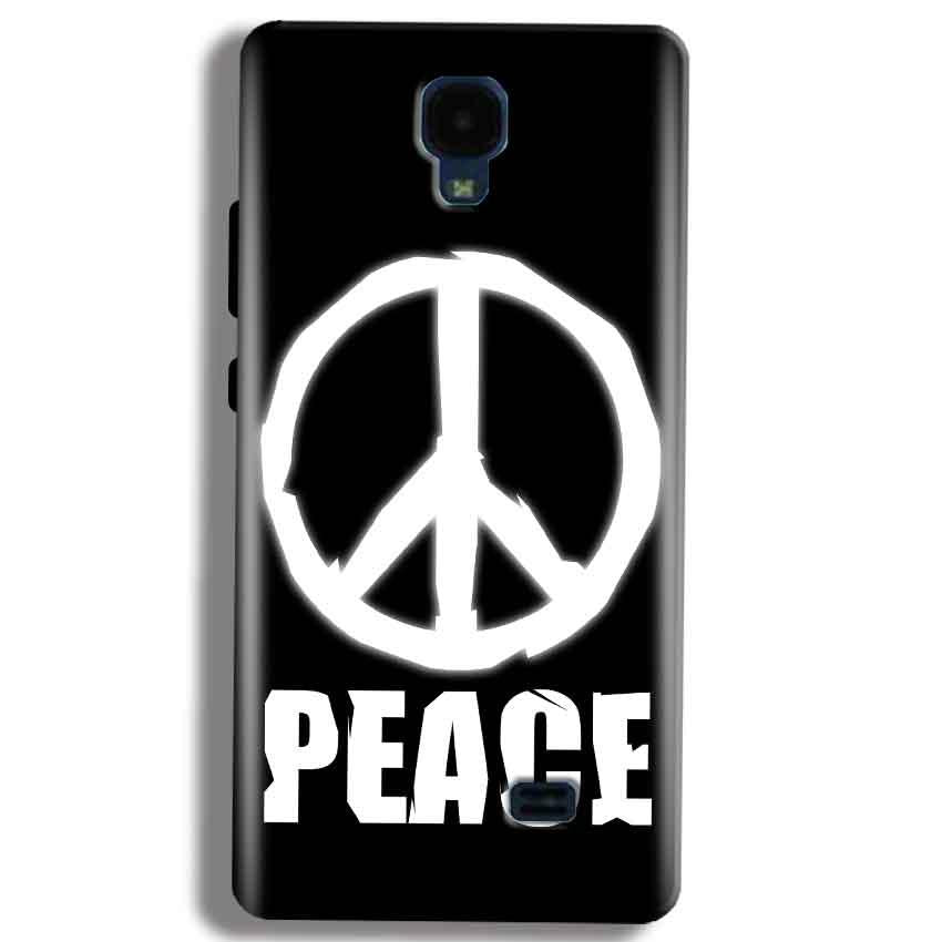 Micromax Bolt Q383 Mobile Covers Cases Peace Sign In White - Lowest Price - Paybydaddy.com