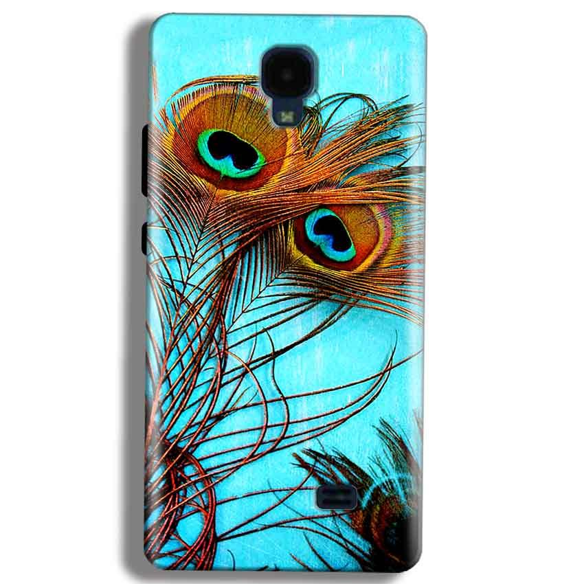 Micromax Bolt Q383 Mobile Covers Cases Peacock blue wings - Lowest Price - Paybydaddy.com