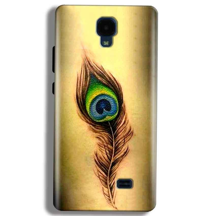 Micromax Bolt Q383 Mobile Covers Cases Peacock coloured art - Lowest Price - Paybydaddy.com