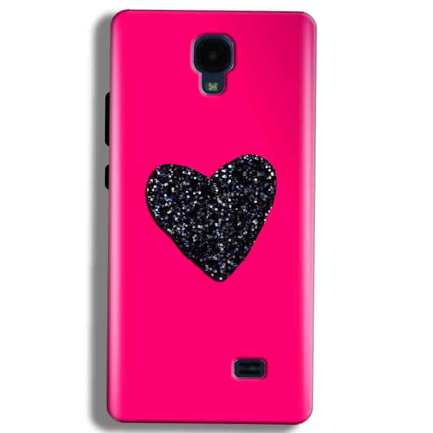 Micromax Bolt Q383 Mobile Covers Cases Pink Glitter Heart - Lowest Price - Paybydaddy.com