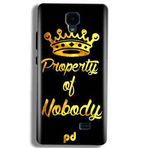Micromax Bolt Q383 Mobile Covers Cases Property of nobody with Crown - Lowest Price - Paybydaddy.com