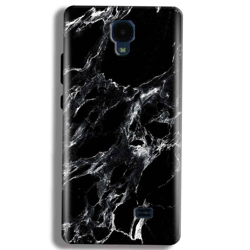 Micromax Bolt Q383 Mobile Covers Cases Pure Black Marble Texture - Lowest Price - Paybydaddy.com