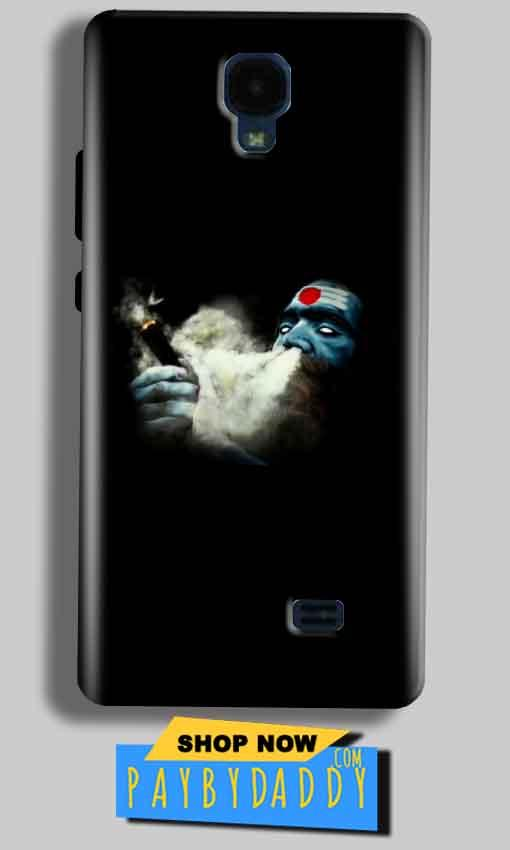Micromax Bolt Q383 Mobile Covers Cases Shiva Aghori Smoking - Lowest Price - Paybydaddy.com