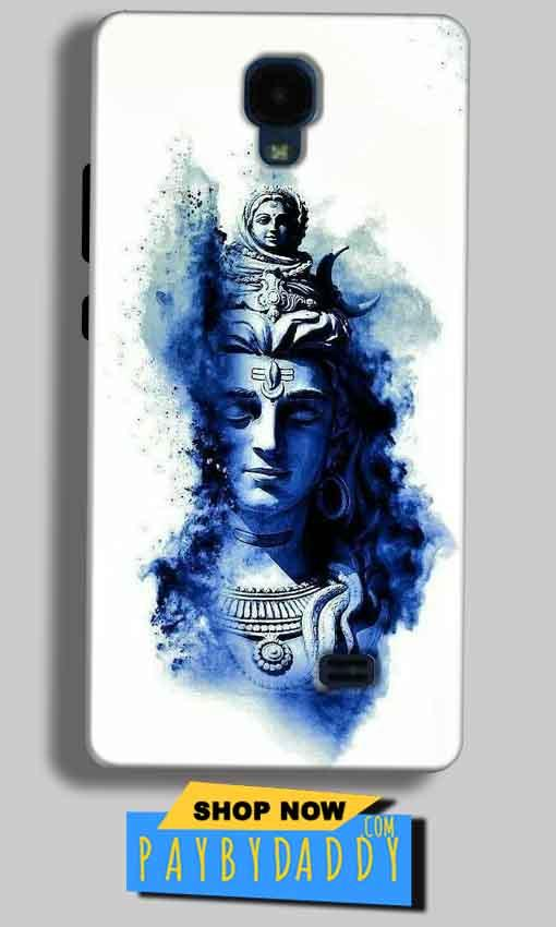 Micromax Bolt Q383 Mobile Covers Cases Shiva Blue White - Lowest Price - Paybydaddy.com