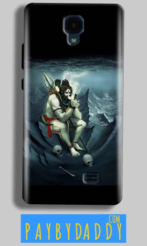 Micromax Bolt Q383 Mobile Covers Cases Shiva Smoking - Lowest Price - Paybydaddy.com