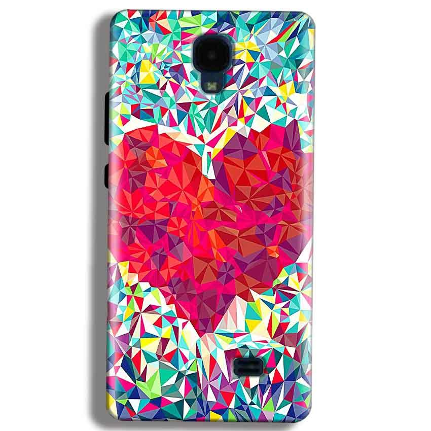 Micromax Bolt Q383 Mobile Covers Cases heart Prisma design - Lowest Price - Paybydaddy.com