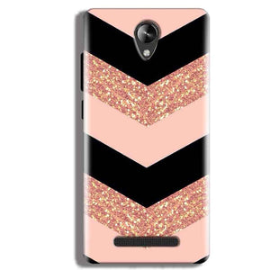 Micromax Canvas 6 Pro Mobile Covers Cases Black down arrow Pattern - Lowest Price - Paybydaddy.com