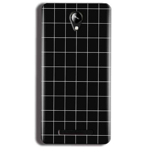 Micromax Canvas 6 Pro E484 Mobile Covers Cases Black with White Checks - Lowest Price - Paybydaddy.com