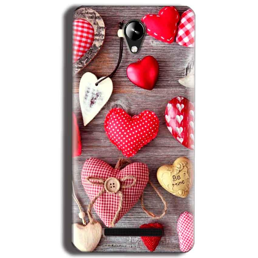 Micromax Canvas 6 Pro E484 Mobile Covers Cases Hearts- Lowest Price - Paybydaddy.com