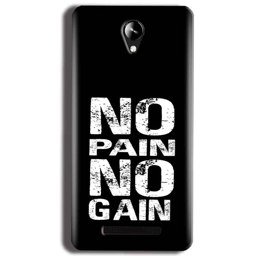Micromax Canvas 6 Pro E484 Mobile Covers Cases No Pain No Gain Black And White - Lowest Price - Paybydaddy.com