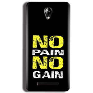 Micromax Canvas 6 Pro E484 Mobile Covers Cases No Pain No Gain Yellow Black - Lowest Price - Paybydaddy.com