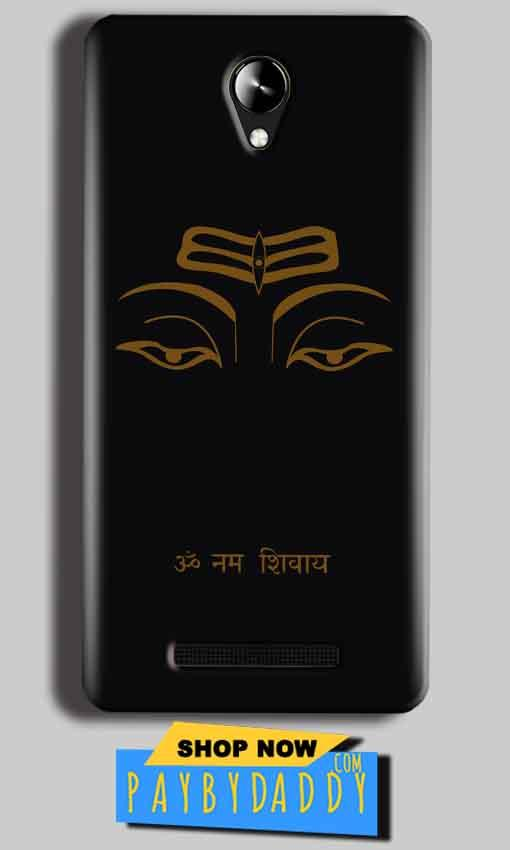 Micromax Canvas 6 Pro E484 Mobile Covers Cases Om Namaha Gold Black - Lowest Price - Paybydaddy.com