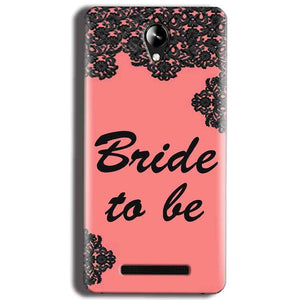 Micromax Canvas 6 Pro E484 Mobile Covers Cases Mobile Covers Cases bride to be with ring Black Pink - Lowest Price - Paybydaddy.com