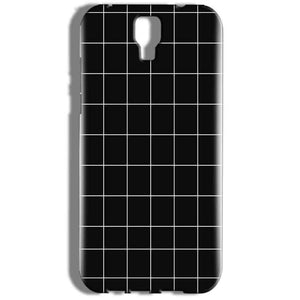 Micromax Canvas Amaze 2 E457 Mobile Covers Cases Black with White Checks - Lowest Price - Paybydaddy.com