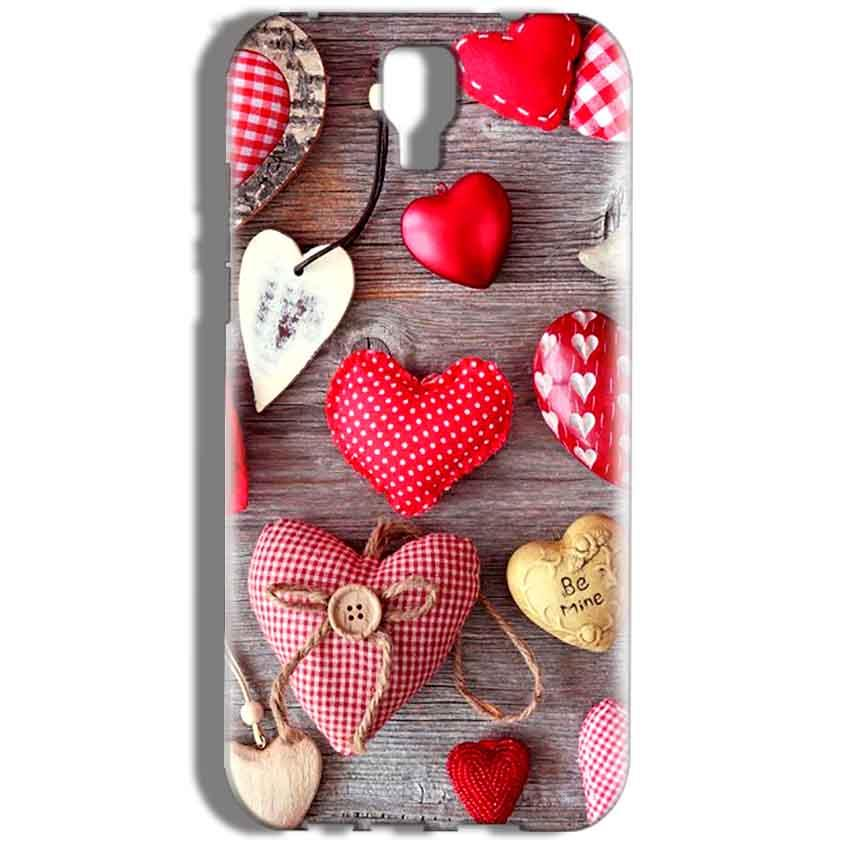 Micromax Canvas Amaze 2 E457 Mobile Covers Cases Hearts- Lowest Price - Paybydaddy.com