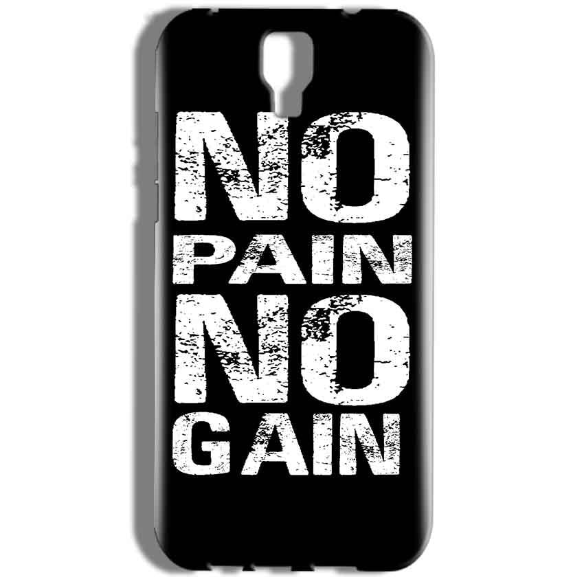 Micromax Canvas Amaze 2 E457 Mobile Covers Cases No Pain No Gain Black And White - Lowest Price - Paybydaddy.com