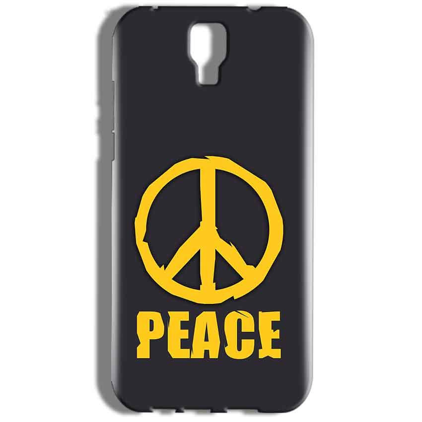 Micromax Canvas Amaze 2 E457 Mobile Covers Cases Peace Blue Yellow - Lowest Price - Paybydaddy.com