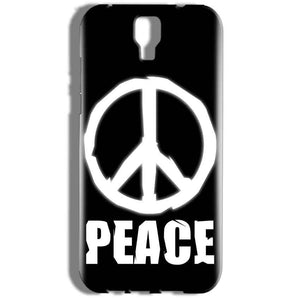 Micromax Canvas Amaze 2 E457 Mobile Covers Cases Peace Sign In White - Lowest Price - Paybydaddy.com