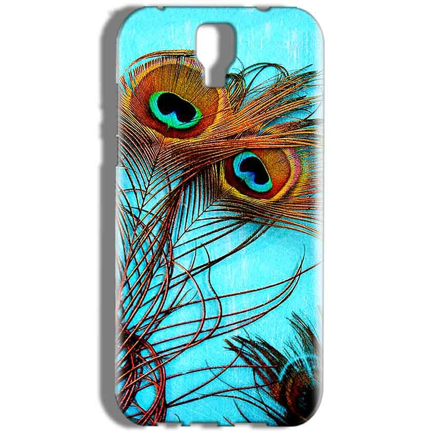 Micromax Canvas Amaze 2 E457 Mobile Covers Cases Peacock blue wings - Lowest Price - Paybydaddy.com