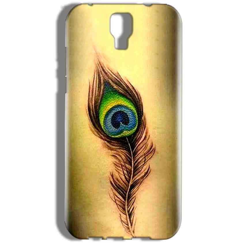 Micromax Canvas Amaze 2 E457 Mobile Covers Cases Peacock coloured art - Lowest Price - Paybydaddy.com