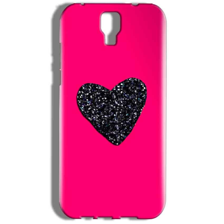 Micromax Canvas Amaze 2 E457 Mobile Covers Cases Pink Glitter Heart - Lowest Price - Paybydaddy.com