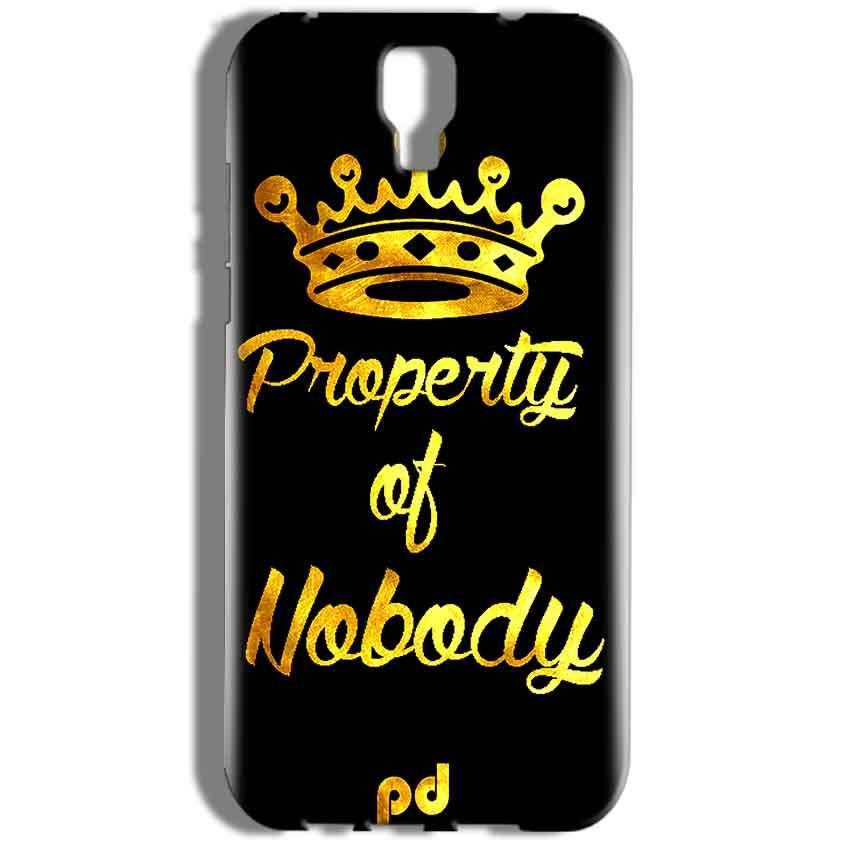 Micromax Canvas Amaze 2 E457 Mobile Covers Cases Property of nobody with Crown - Lowest Price - Paybydaddy.com