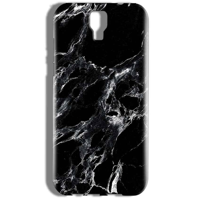 Micromax Canvas Amaze 2 E457 Mobile Covers Cases Pure Black Marble Texture - Lowest Price - Paybydaddy.com