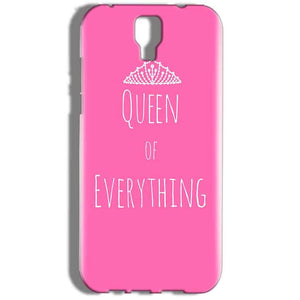 Micromax Canvas Amaze 2 E457 Mobile Covers Cases Queen Of Everything Pink White - Lowest Price - Paybydaddy.com
