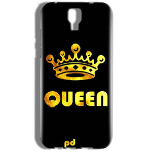 Micromax Canvas Amaze 2 E457 Mobile Covers Cases Queen With Crown in gold - Lowest Price - Paybydaddy.com