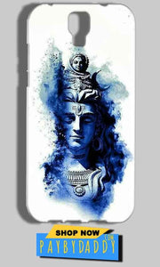 Micromax Canvas Amaze 2 E457 Mobile Covers Cases Shiva Blue White - Lowest Price - Paybydaddy.com