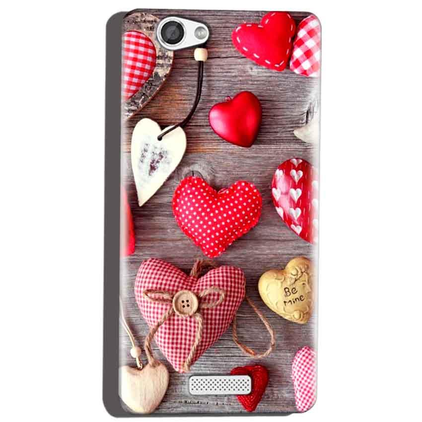 Micromax Canvas Hue 2 A316 Mobile Covers Cases Hearts- Lowest Price - Paybydaddy.com