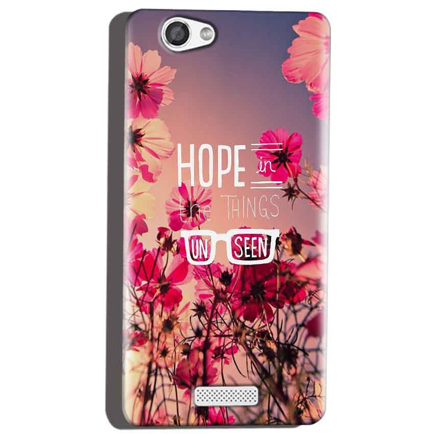 Micromax Canvas Hue 2 A316 Mobile Covers Cases Hope in the Things Unseen- Lowest Price - Paybydaddy.com