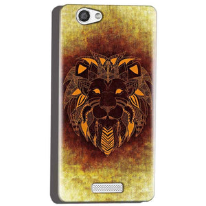 Micromax Canvas Hue 2 A316 Mobile Covers Cases Lion face art - Lowest Price - Paybydaddy.com