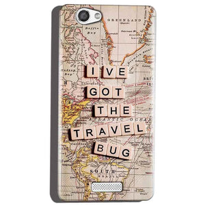 Micromax Canvas Hue 2 A316 Mobile Covers Cases Live Travel Bug - Lowest Price - Paybydaddy.com