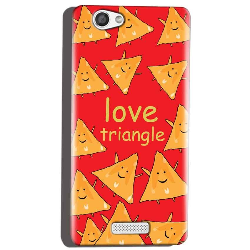 Micromax Canvas Hue 2 A316 Mobile Covers Cases Love Triangle - Lowest Price - Paybydaddy.com