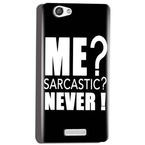 Micromax Canvas Hue 2 A316 Mobile Covers Cases Me sarcastic - Lowest Price - Paybydaddy.com