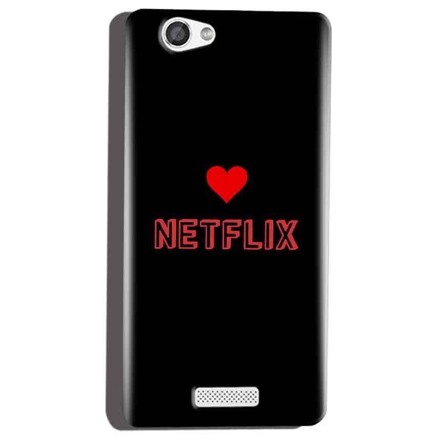 Micromax Canvas Hue 2 A316 Mobile Covers Cases NETFLIX WITH HEART - Lowest Price - Paybydaddy.com